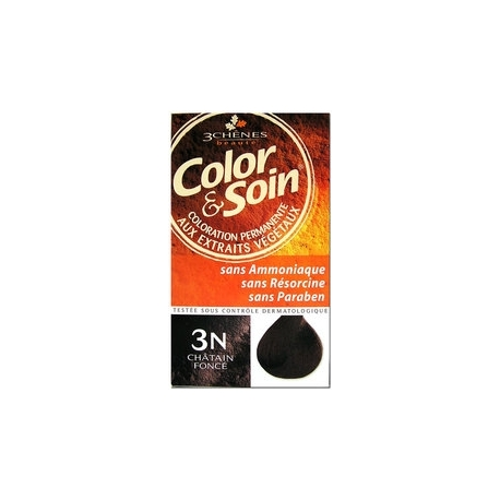 COLOR & SOIN COLORATION CHATAIN FONCE 3N