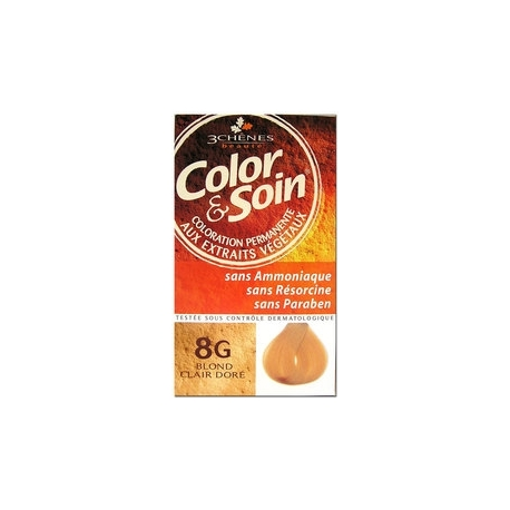 COLOR & SOIN COLORATION BLOND CLAIR DORE 8G