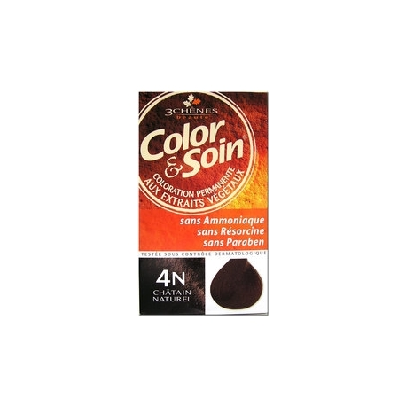 COLOR & SOIN KIT COLORATION PERMANENTE CHATAIN NAT 4N