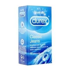 DUREX CLASSIC JEANS 12 PRÉSERVATIFS
